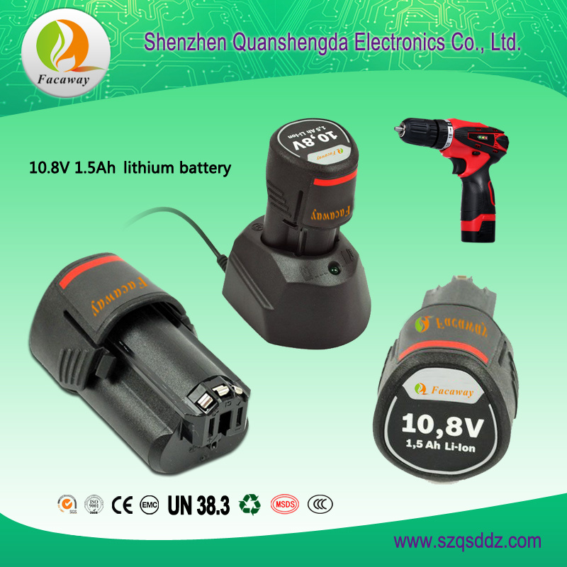(QSD-10.8) 10.8V 1.5Ah Electric Tools Lithium-Ion Battery Pack