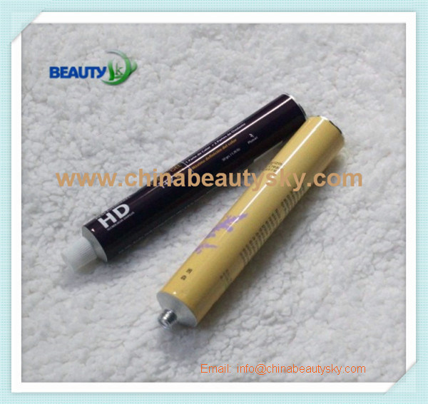 Cosmetic Hair Dye Oil Care Hand Cream Empty Aluminum Plain Tube
