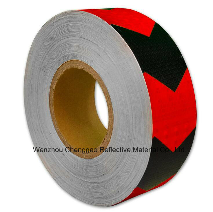 Conspicuity Reflective Safety Caution Warning Tape with Arrow (C3500-AW)
