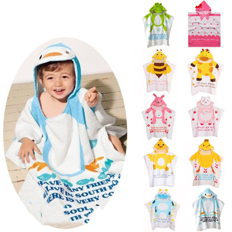 China Supplier Top Quality Kids Beach Poncho Hooded Towel