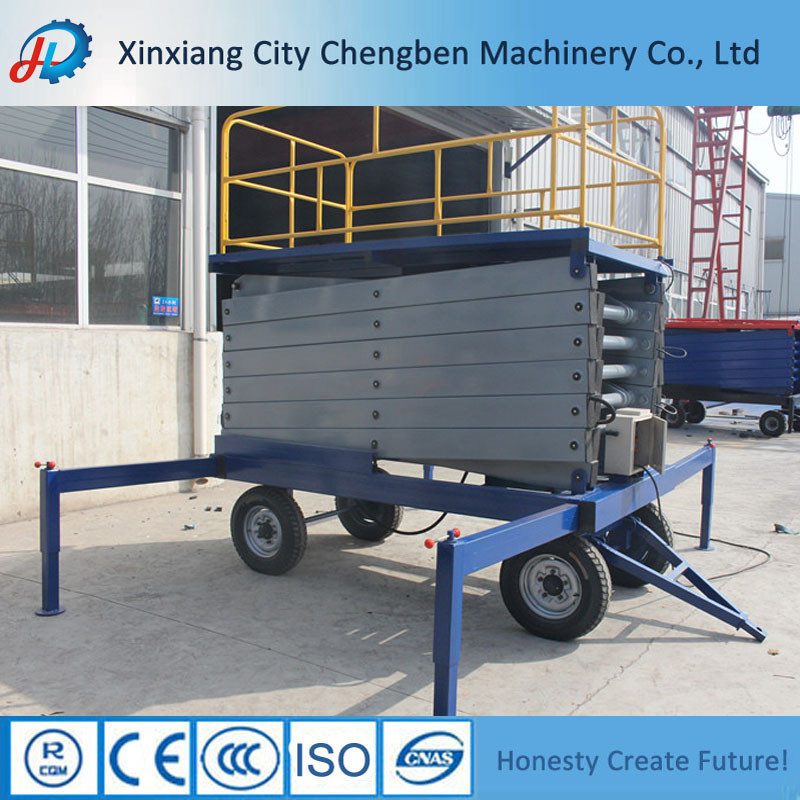 Mobile Vertical Small Scissor Lift with Anti-Skid Table