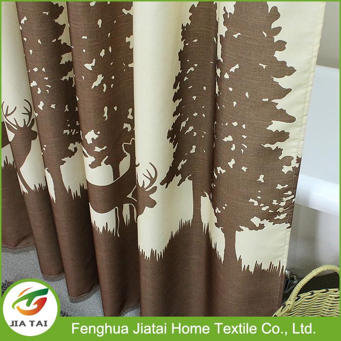 Custom Tree Pattern Oversized Shower Curtains Extra Long