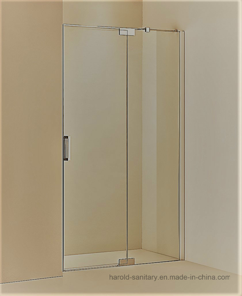 Hr-03-D Pivot Hinge Open SGCC Tempered Glass Shower Door