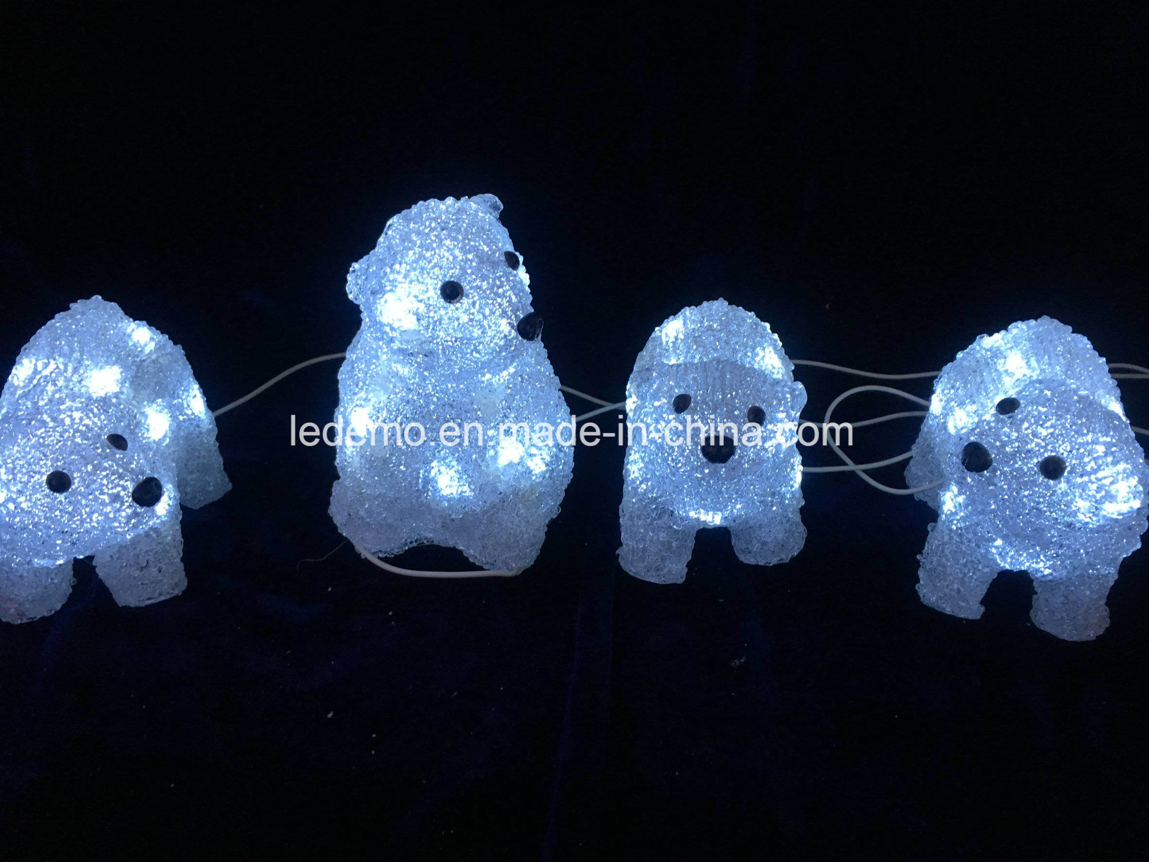 LED Acrylic Decorative USB Bear Light