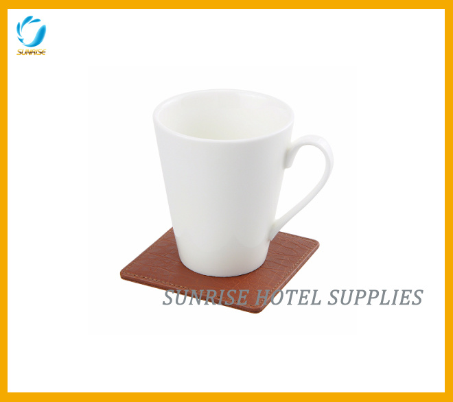 Guestroom Leatherette Brown Coaster Cup Coaster