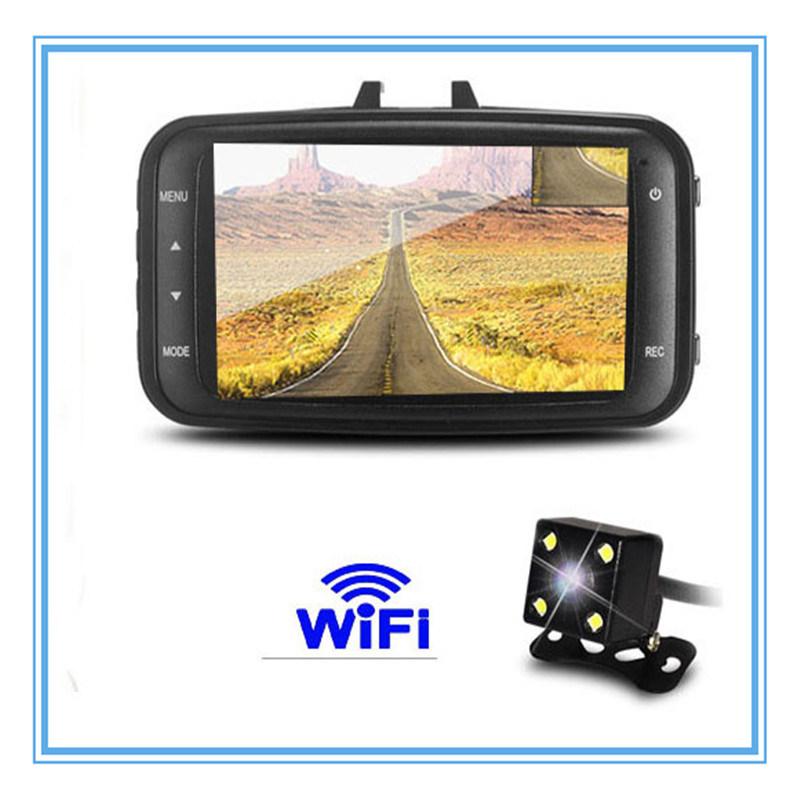 Dual Camera Lens Full HD 1080P Mini WiFi Car DVR with Night Vision