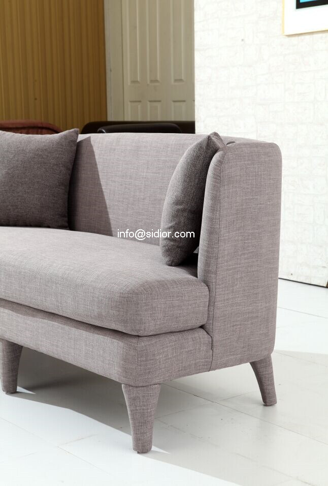 (SD-6008-2) Modern Living Room Hotel Furniture Fabric Sofa