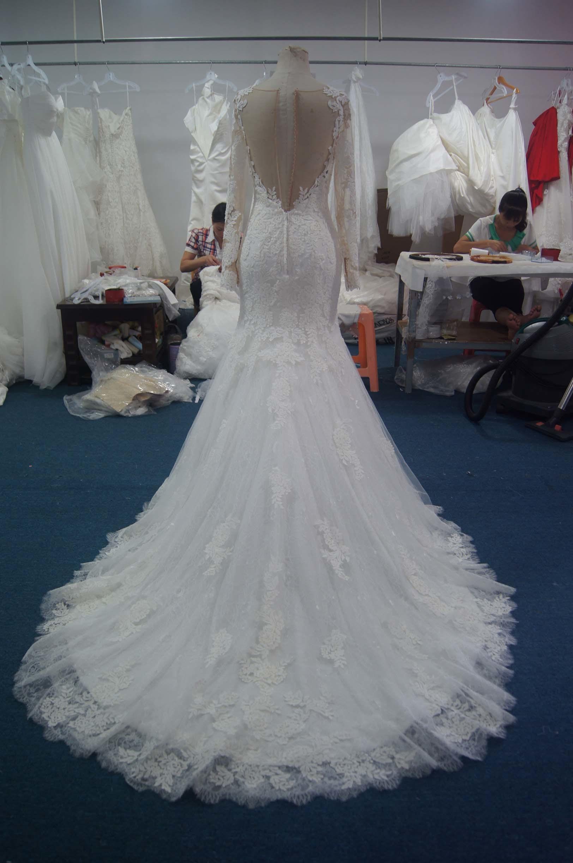 New Duchess Bridal Wedding Gown with Chanpel Train