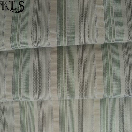 Cotton Woven Seersucker Yarn Dyed Fabric for Shirts/Dress Rls50-22se