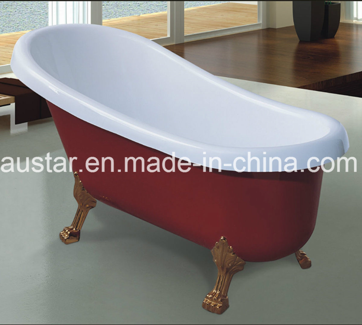 New Design 1700mm Red Classic Bathtub SPA for Lady with Multi Sizes (AT-0913-1)