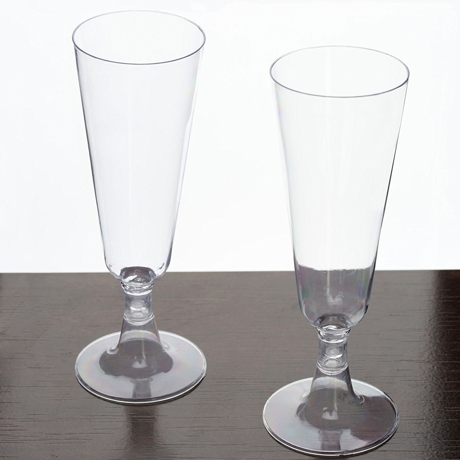 Two-Piece Hard Plastic Mimosa/Champagne Flutes, 5 Oz, Clear