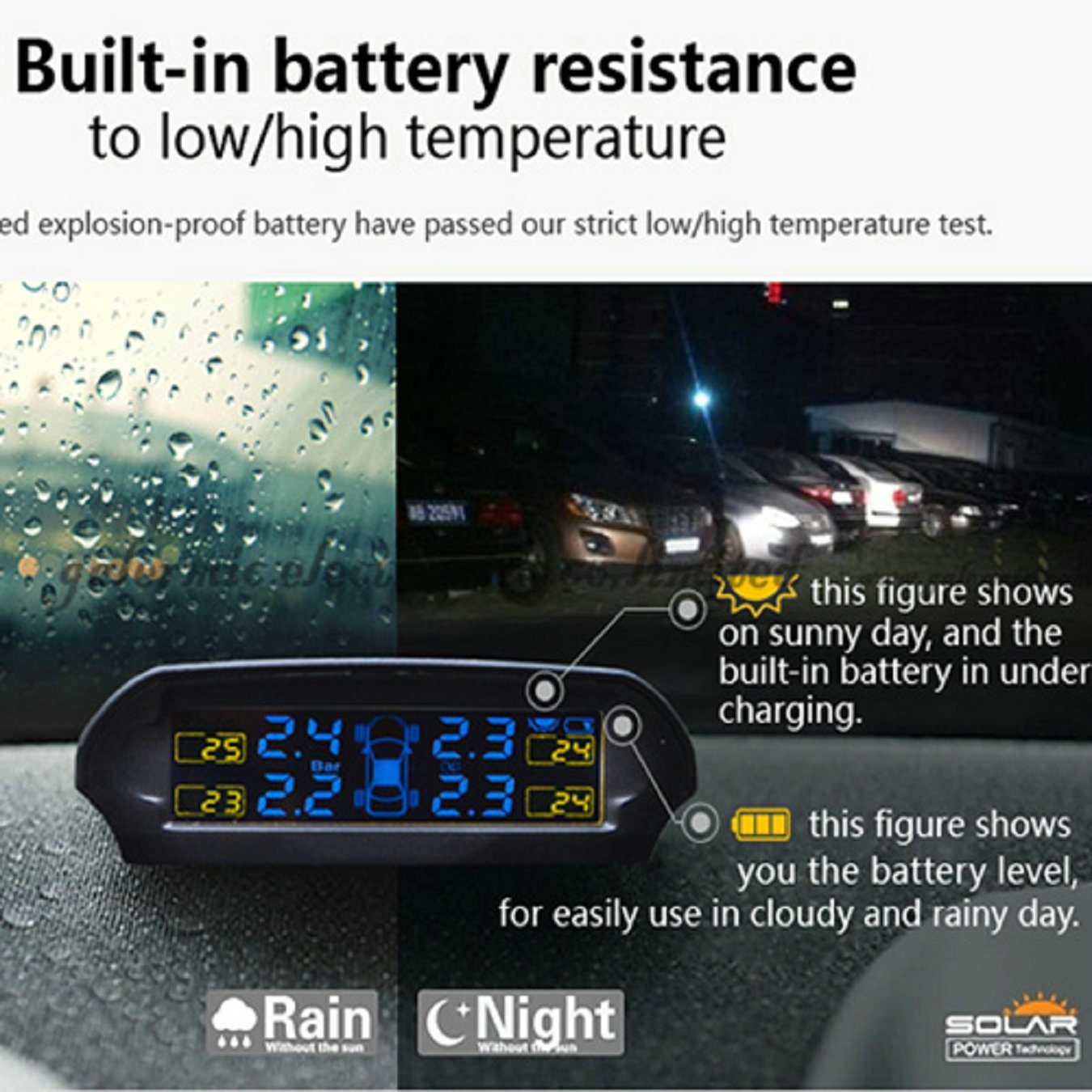 TPMS Tire Pressure Monitoring System for Car Precision Detection