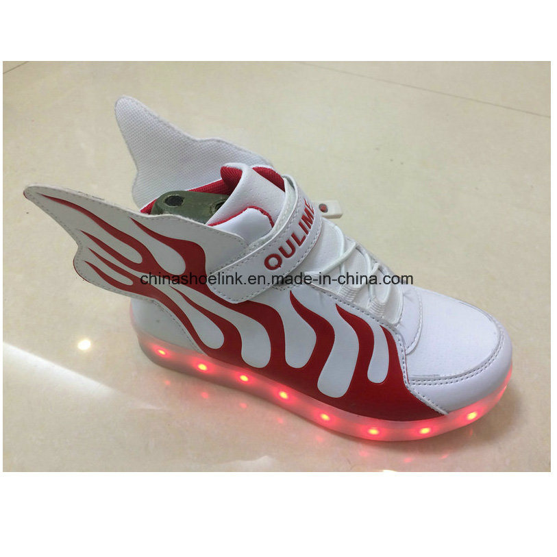 Children′s Fashion Sport Casual Shoes with LED Lights Sneakers, Joggers