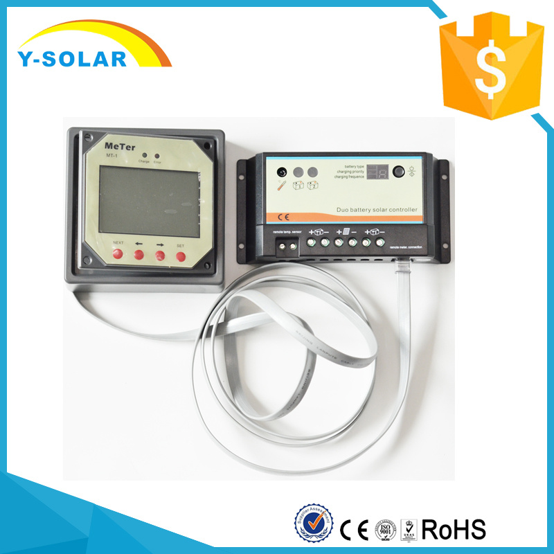 10A 12V/24V Epever Duo-Battery Solar Controller/Regulator Remote Meter Display dB-10A