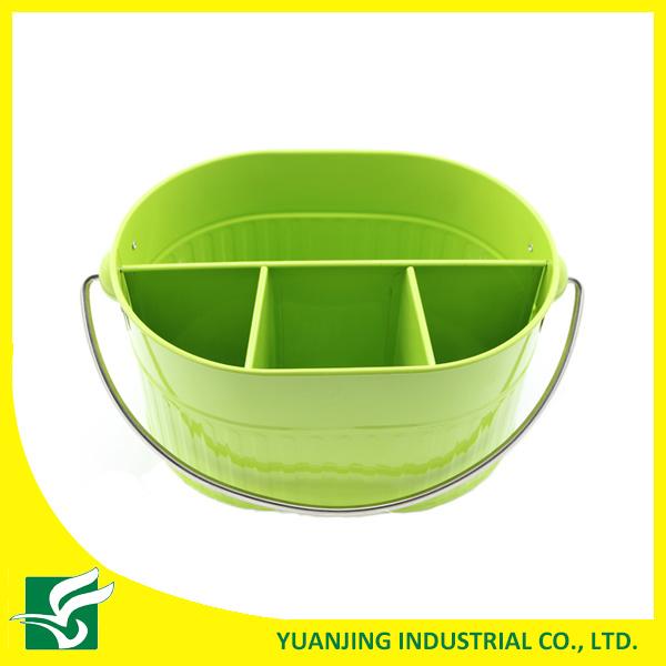 Green Color Metal Storage Basket