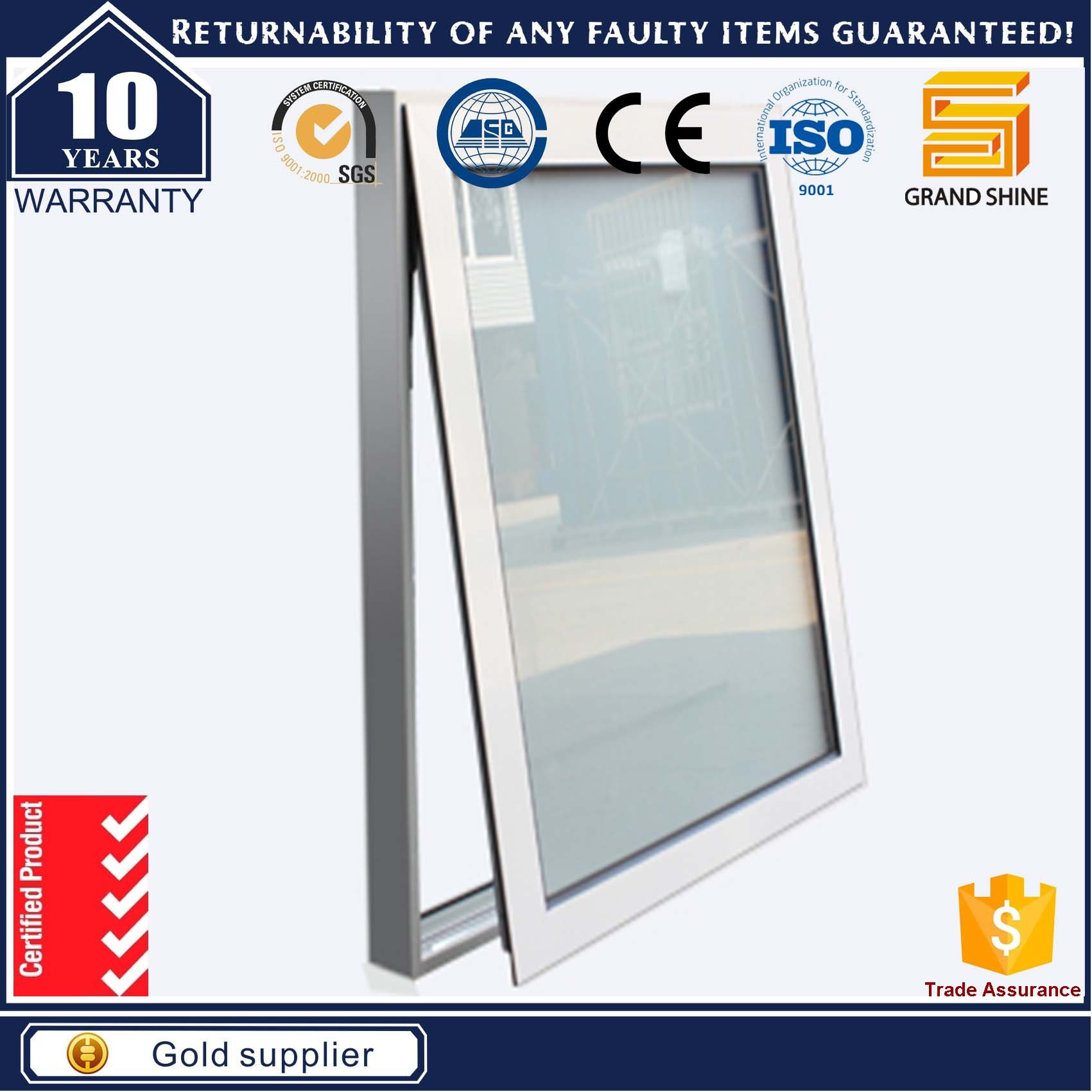 New Design Window Opening System Aluminium Windows
