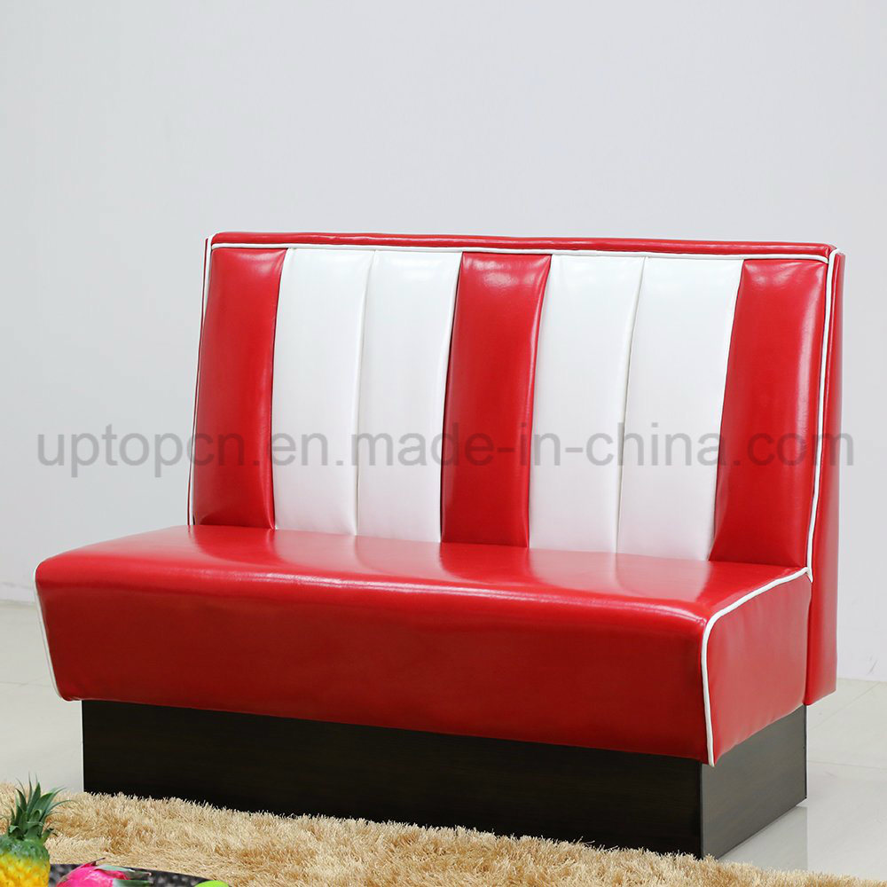 1950s American Style PU Leather Sofa Restaurant Booth (SP-KS269)