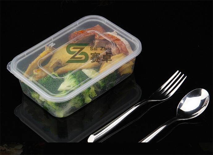 Single Rectangle Compartment Disposable Transparent Plastic Lunch Storage Box