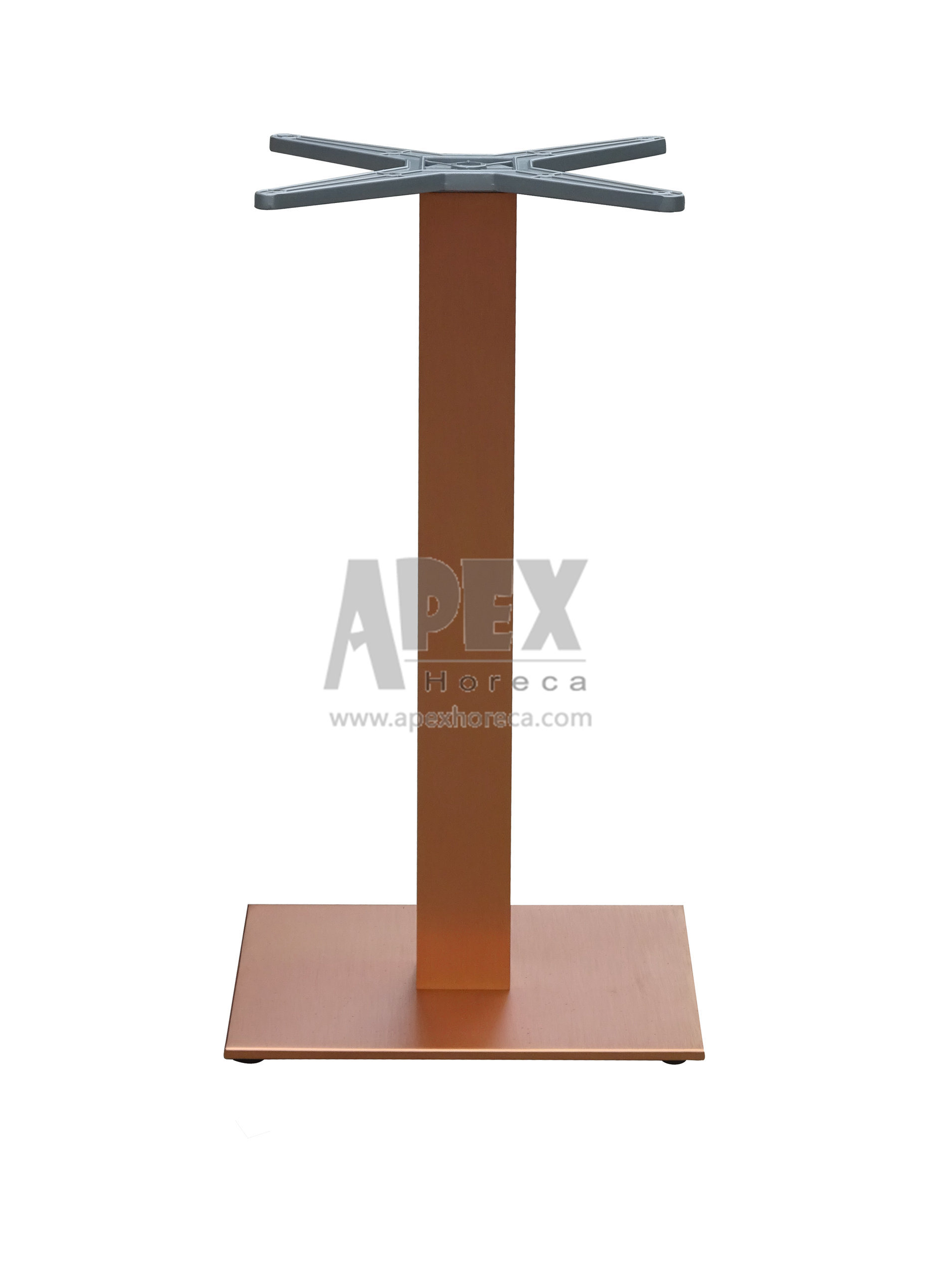 Aluminum Table Base Stainless Steel Look Table Base