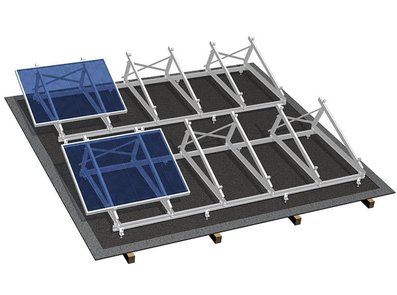 Rooftop Solar PV System Panel Mounting Brackets