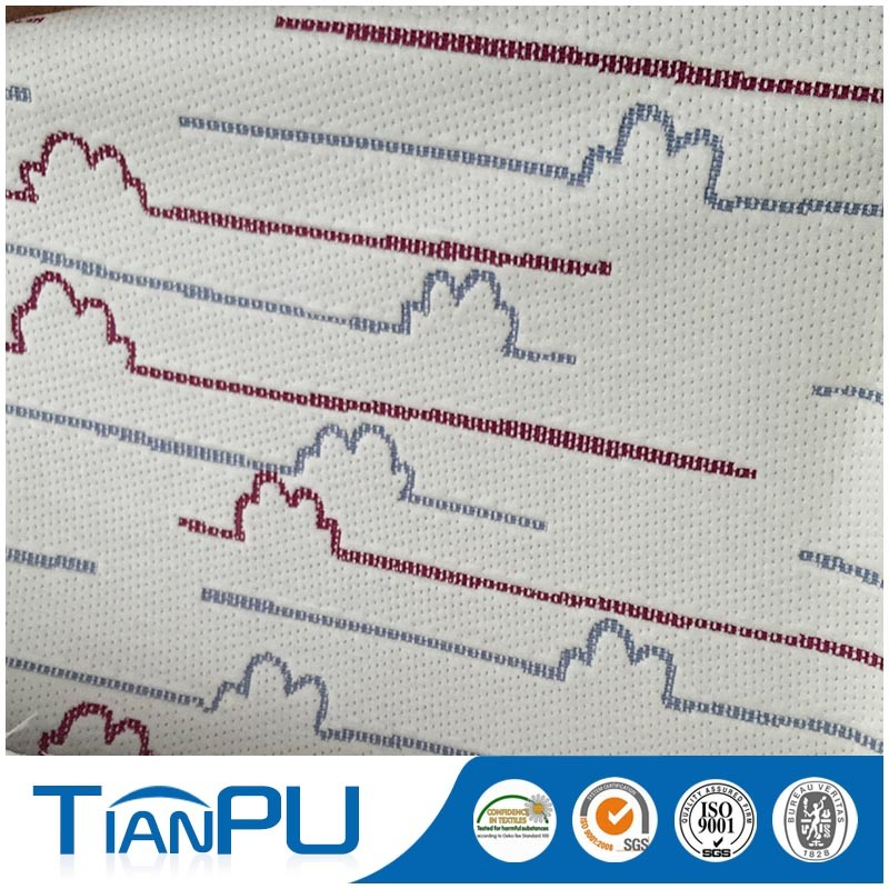 Line Color Poly Jacquard Fabric Air Mattress