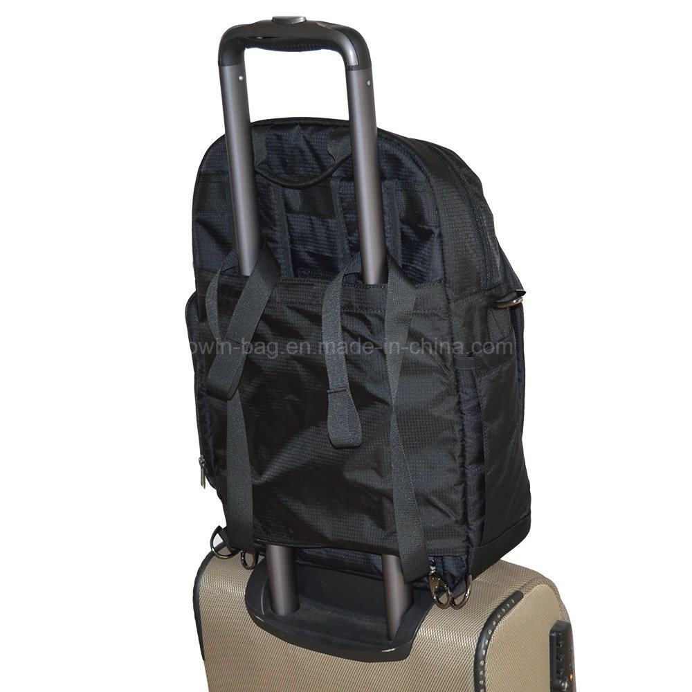 High Quality Travel Daily Use Laptop Backpack with Special Design for Trolly