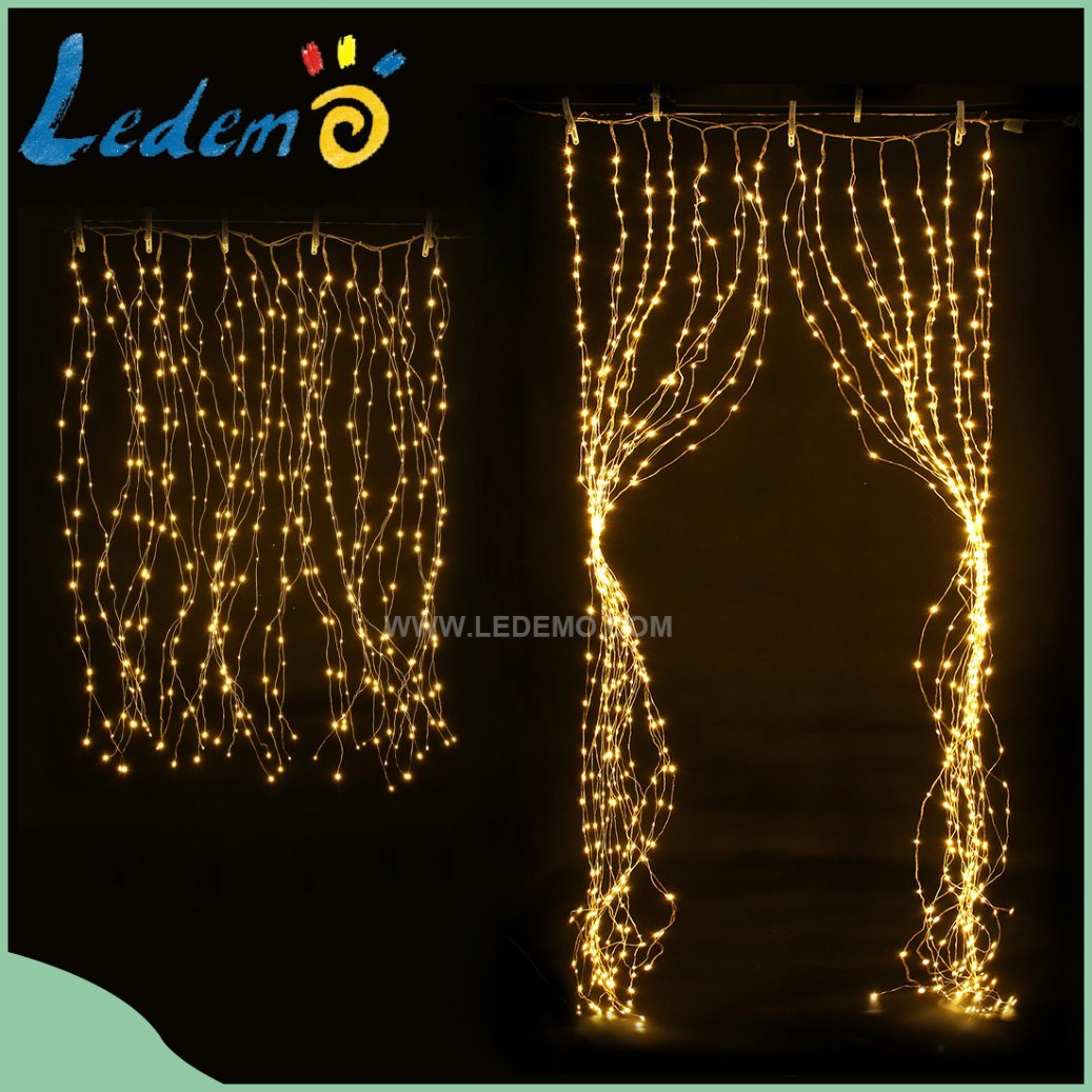 LED Curtain Copper Light 700LED for Window Decoration