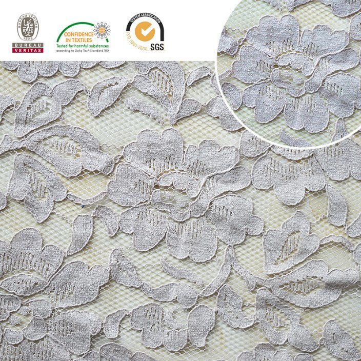2017 Lace Fabric Floral Pattern Nylon Beautiful and Newest Design Ln10039
