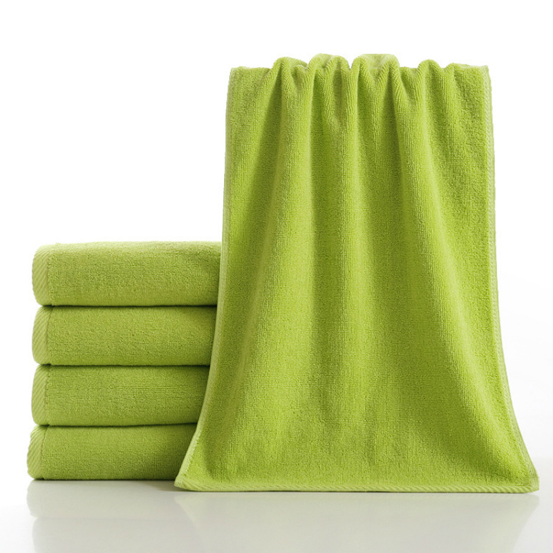 High Quality Plain Dyed Solid Color Cotton Custom Towel