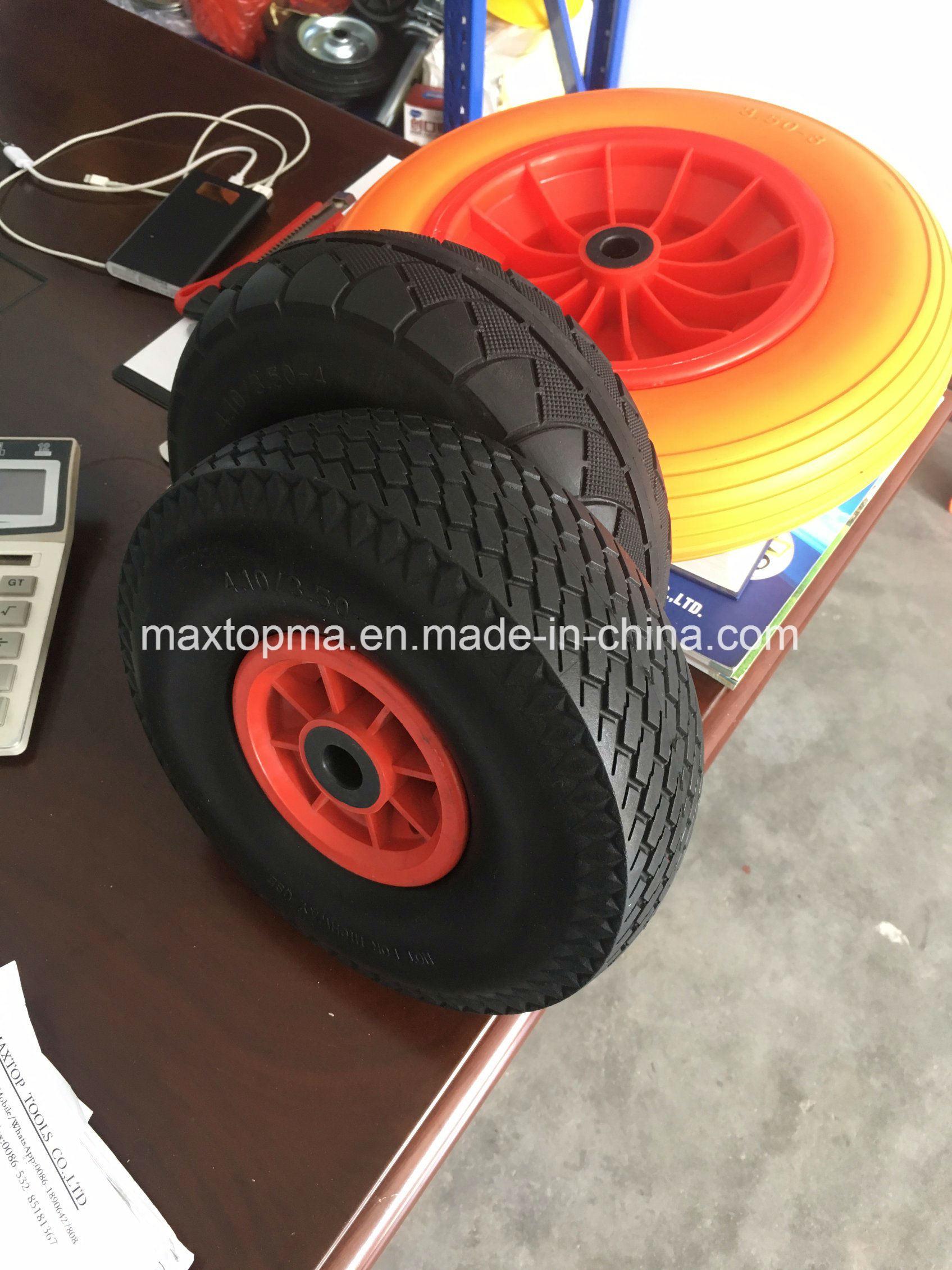China Maxtop Quality Flat Free PU Foam Wheel