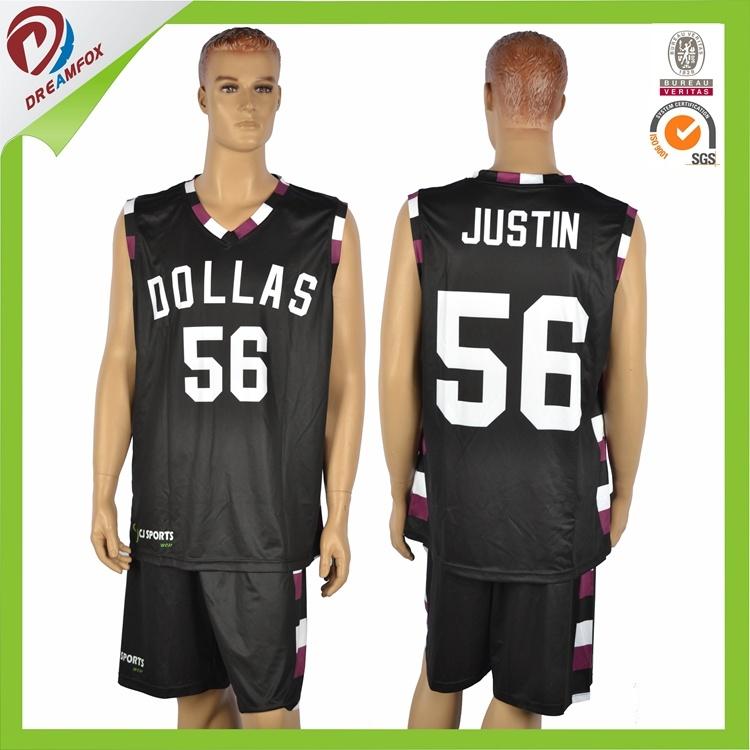 Free Cutom Polyester Team Basketball Uniform Set Logo Design