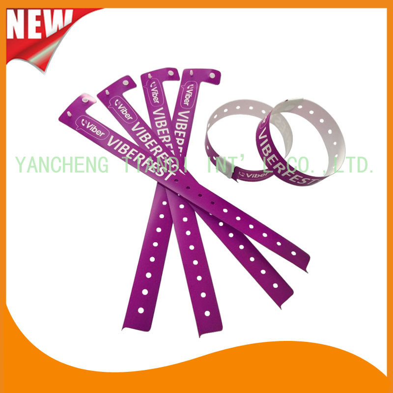 Entertainment Plastic Full Color Printing ID Wristbands Bracelet (E8070-20-5)