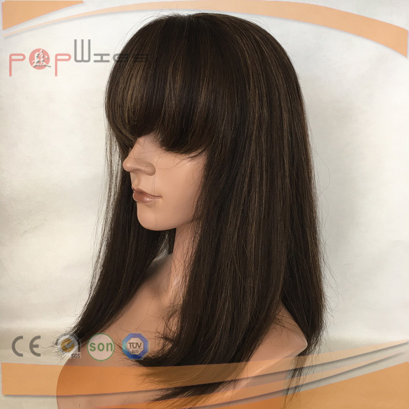 Human Hair Top Selling Silk Top Glueless Lace Wig (PPG-l-0761)