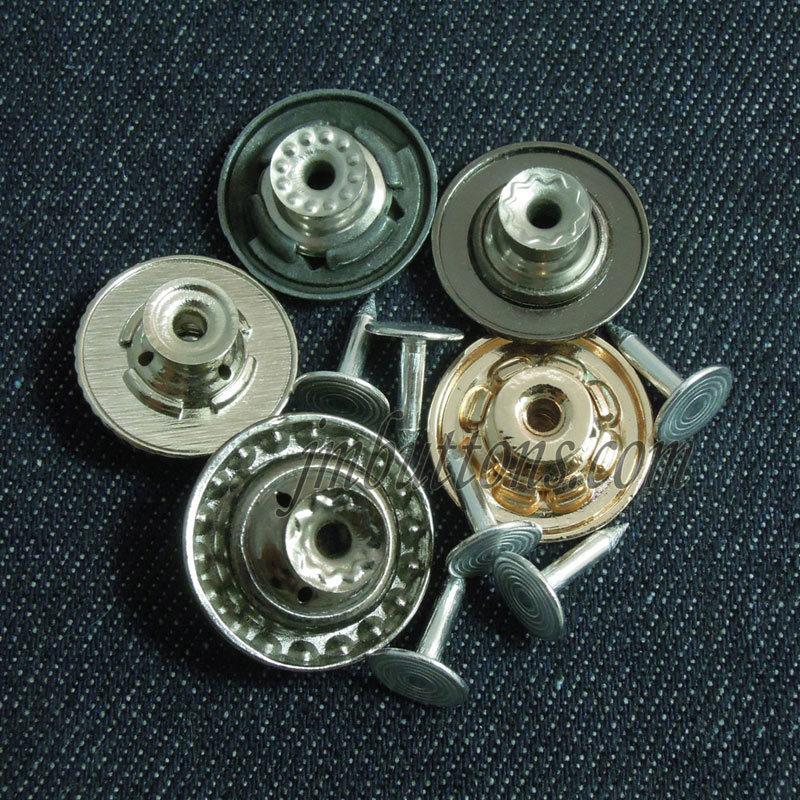 Design Flat Plating Remove Rivet Buttons