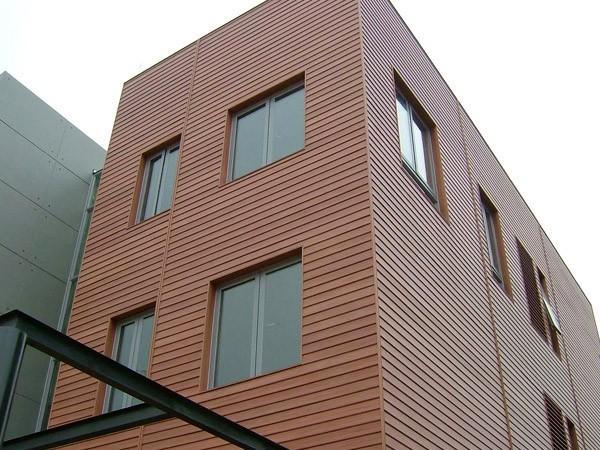 Wood Composite Panel : China movable exterior house material wood plastic