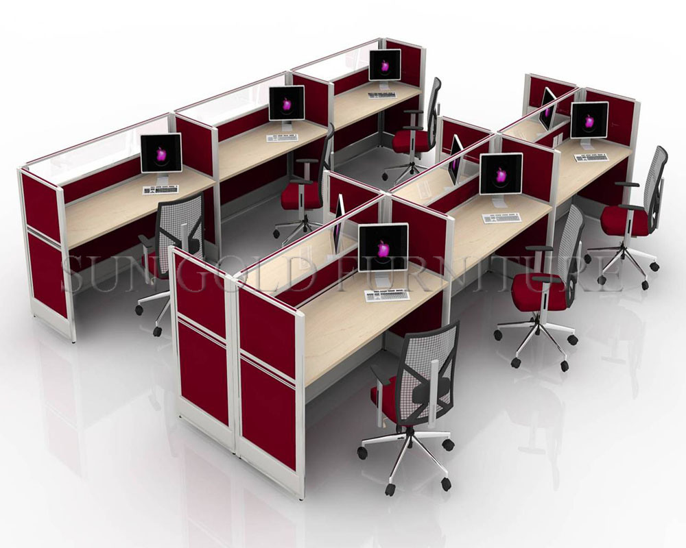 Image gallery small office workstations for Modern office space layout
