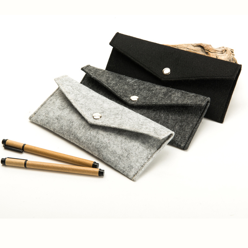 Felt Pencil Case with Buckle