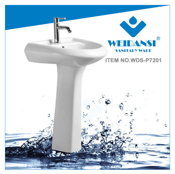 Weidansi Ceramic Wash Pedestal Basin Wash Sink (WDS-P7201)