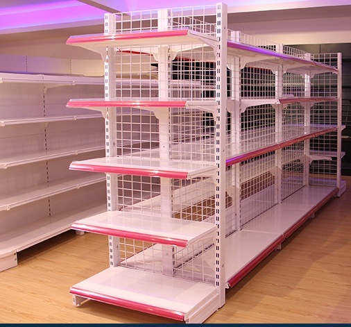 Cold Rolled Steel Supermarket Display Gondola Shelf