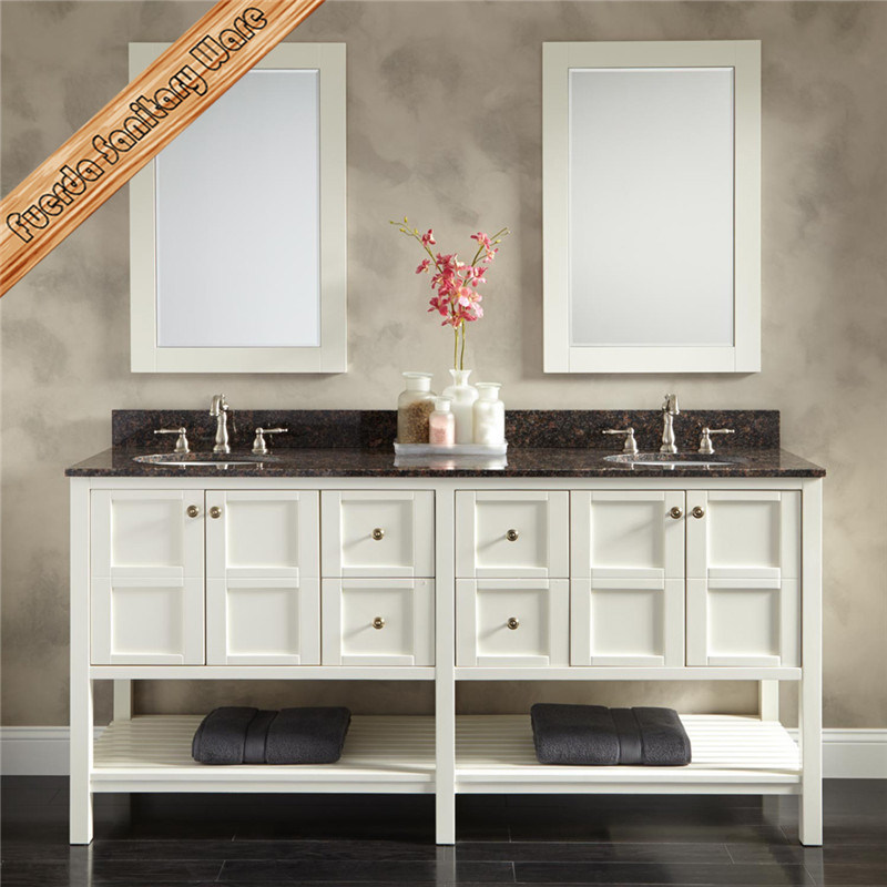 White Modern Lacquer Bathroom Vanity with Mirror