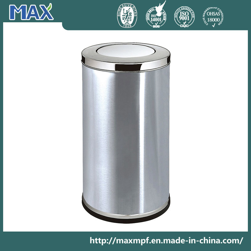 Hot-Sale Public Cheap Stainless Steel Swing-Lid Indoor Recycle Trash Bin