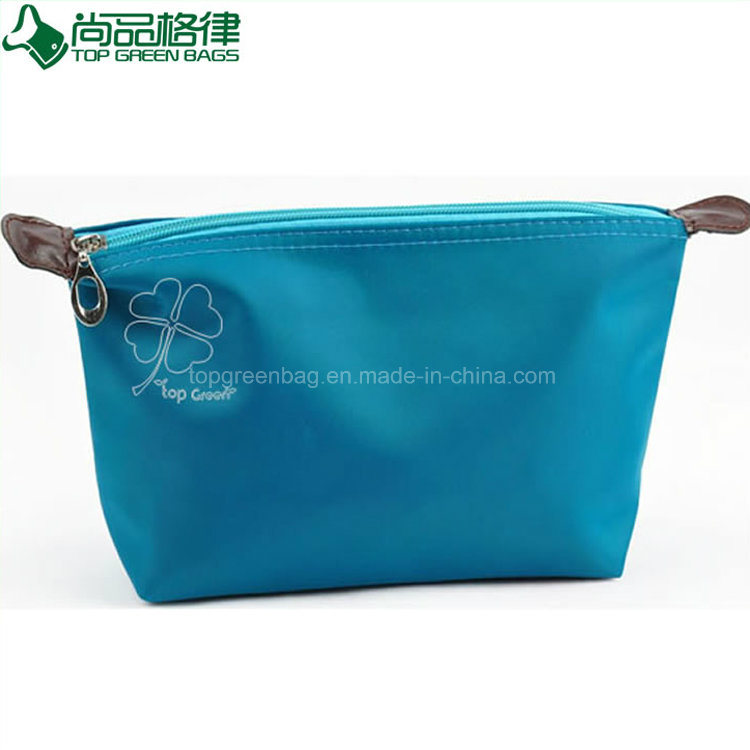 Travel Zipper Polyester Polyester Cosmetic Bag Custom Beauty Pouches