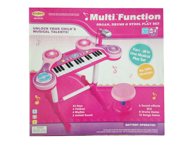 Luxury Electric Toy Kids Toy electronic Organ with Chair (H0072028)