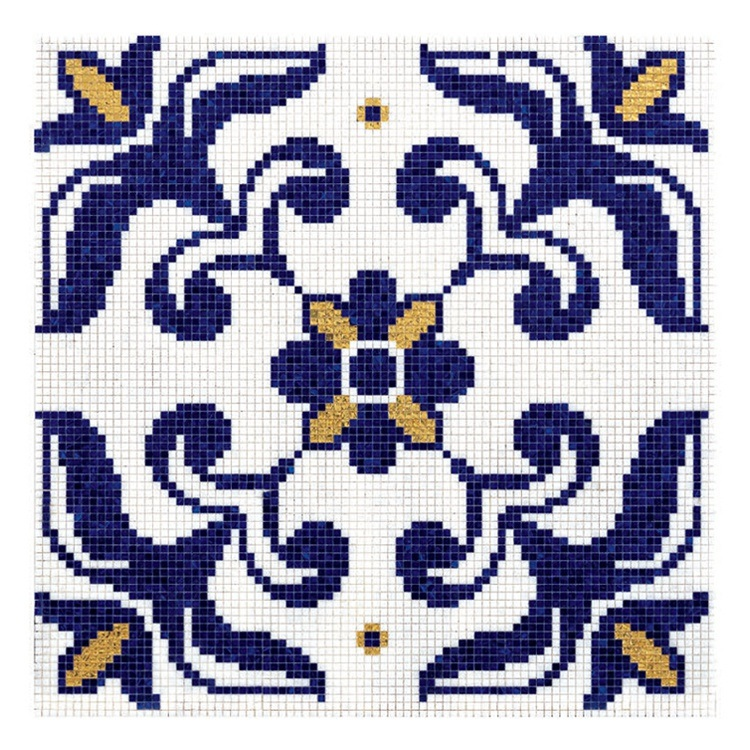Foshan 10mm New Design Glass Mosaic Pattern