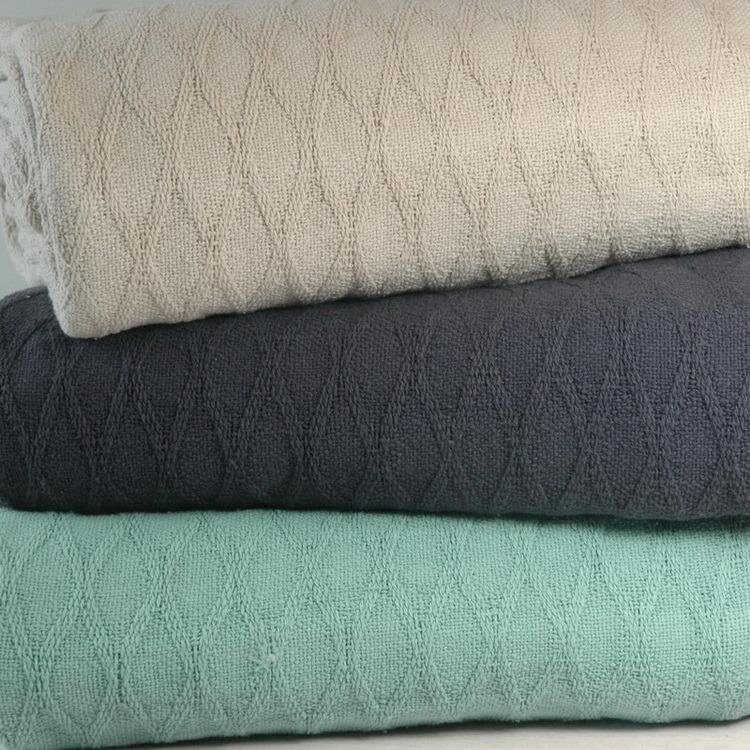 100% Cotton Diamond Pattern Woven Blanket CB-1403