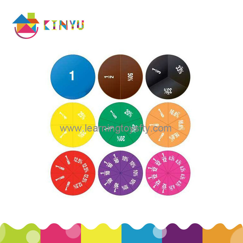 Math Manipulatives Plastic Fraction Circles