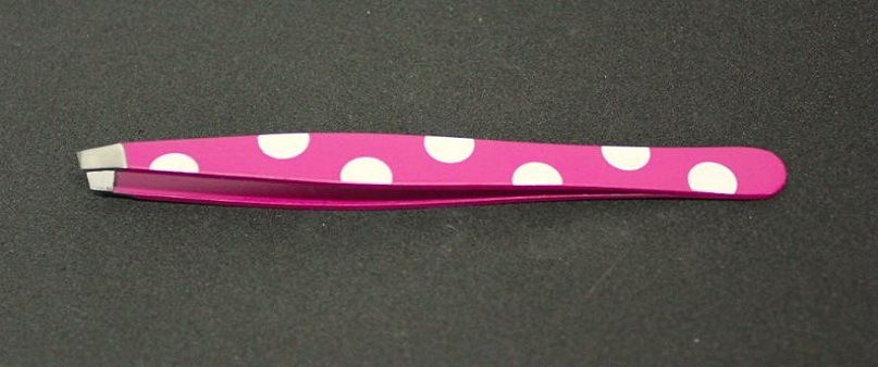 Precision Stainless Beauty Tweezers Slanted Tips Js15310