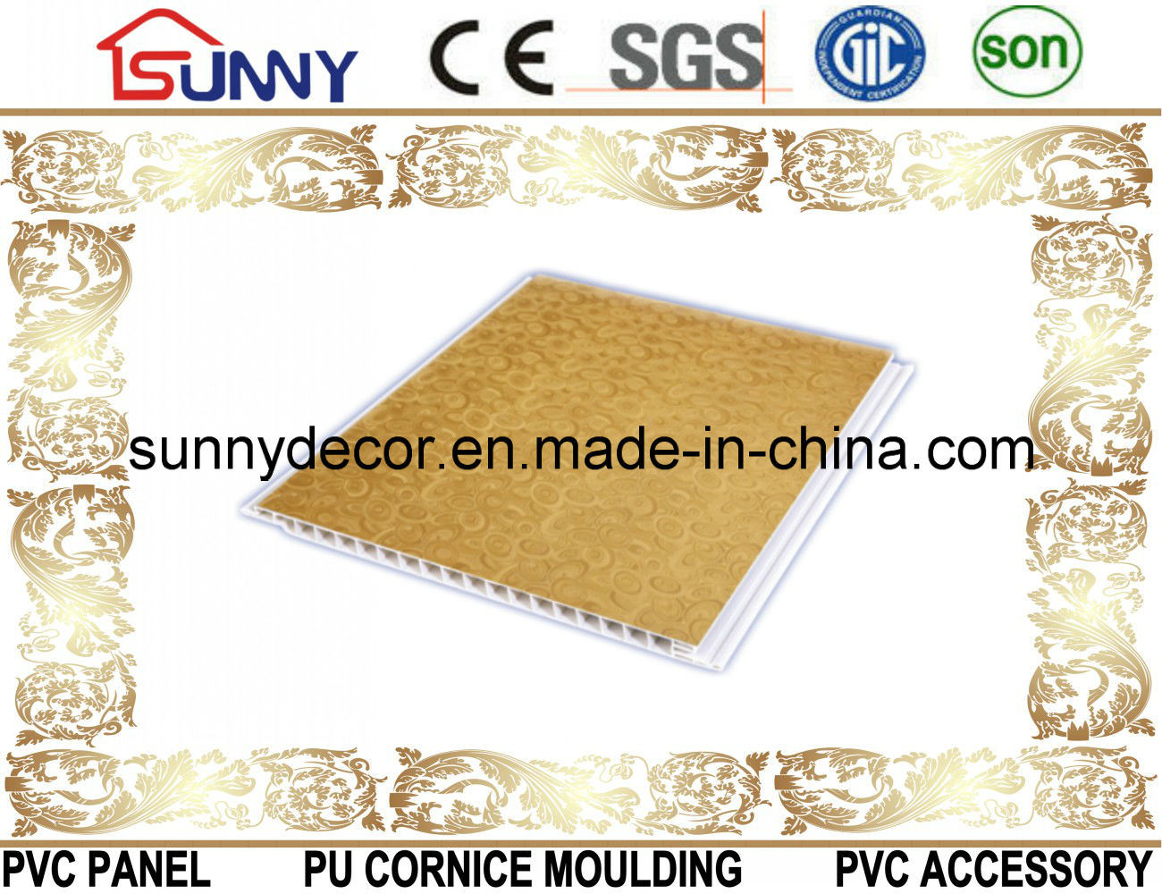 Lamination Groove PVC Ceiling Panel, PVC Wall Panel, PVC Ceiling Tile