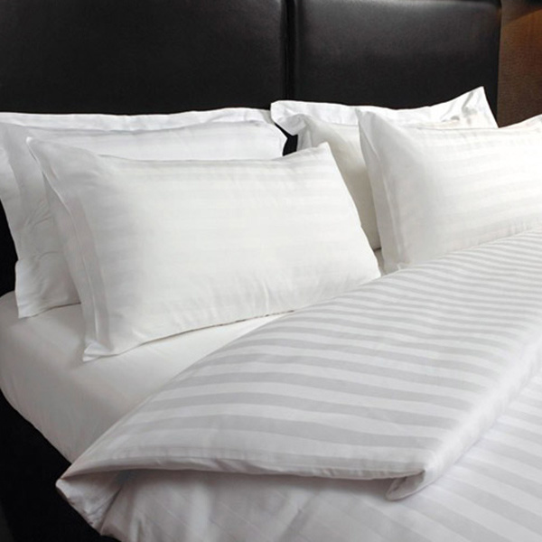 Hotel Bedding Linen Supplier in China Stripe Bedding Set