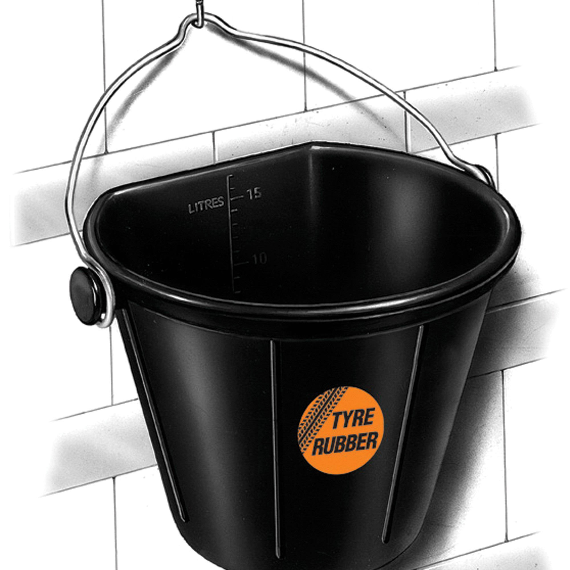 Customized Heavy Duty Natural Rubber Bucket